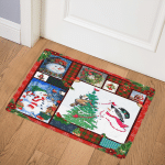 Snowman Christmas ABC07111982 Door Mat