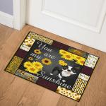 Sunflower Boston Terrier CLA2910502Q Door Mat