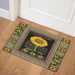Sunflower To My Beautiful Daughter Mom CL01110257MDQ Door Mat