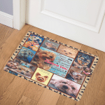 The Moment I Saw You I Love You Yorkie ABC24106881 Door Mat