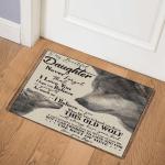 To My Daughter Wolf CLH2111607Q Door Mat