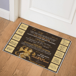 To My Son Mom Lion CL01110555MDQ Door Mat