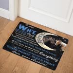 To My Wife Horse CL01110637MDQ Door Mat
