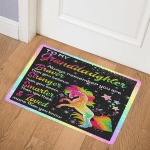To My Granddaughter Unicorn CL18100743MDQ Door Mat