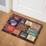 When In Doubt Go To Library PK300577 Door Mat