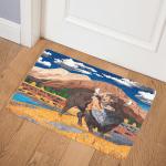 Where The Buffalo Roamed CLA0511939Q Door Mat