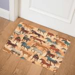 Wild Horses CLM3110328 Door Mat