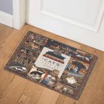 Books And Cats CSB2100082MDQ Door Mat
