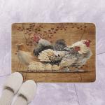 Chicken Family GS CL NT0607 Rug Bath Mat