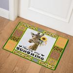 Giraffe Sunshine Giraffe Queen Door Mat
