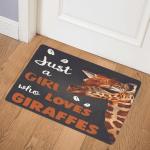 Just A Girl Who loves Giraffe Door Mat