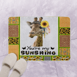 Giraffe Sunshine Giraffe Queen Bath Mat