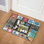 Love Volleyball Fleece UYBOF Door Mat