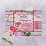 To My Daughter Flamingo GS CL Bath Mat