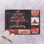 Flamingo Christmas Tree CL Bath Mat