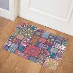 Square Bohemian Mandala Patchwork Door Mat
