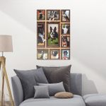 3D Boston Terrier Dog Portrait Poster
