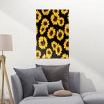 Black Sunflower CL16100075MDF Portrait Poster