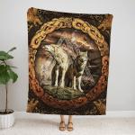 Viking Wolf Fleece Blanket 242