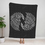 Viking Raven And Wolf Fleece Blanket 241