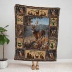 Deer Hunting Fleece Blanket 120