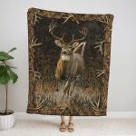 Hunting Deer Fleece Blanket 071