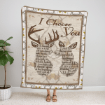 Deer couple Fleece Blanket 078