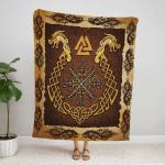 Mythical Viking Dragon Fleece Blanket 237