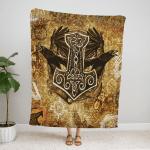 Old Viking Spirit Fleece Blanket 170