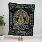 Ravens Of Odin Viking God Fleece Blanket 155