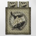 Norse Raven Hugin And Munin Viking Quilt Bed Set 239