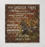 To My Wife, Deer Quilt Blanket 056