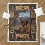Deer Hunting Shepra Blanket 120