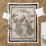 Deer couple Shepra Blanket 078
