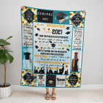 To My Daughter Senior 2021, Love Mom Fleece Blanket 260-2