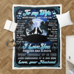 To My Wife, Anniversary Gifts From Husband Shepra Blanket 326