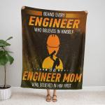 Behind Every Engineer Who Believes In Him Self Fleece Blanket 336