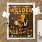 Behind Every Welder Who Believes In Him Self Shepra Blanket 338