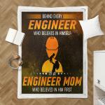 Behind Every Engineer Who Believes In Him Self Shepra Blanket 336