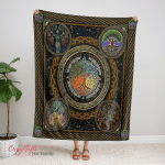 Wicca - Tree Of Life Fleece Blanket 341