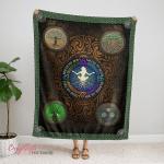 Wicca Four elements Fleece Blanket 341C