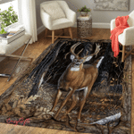 Deer in the forest 343 Rug