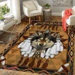 Native American Wolf Spirit 342 Rug