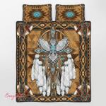 Native American Owl Spirit 344 Quilt Bed Set