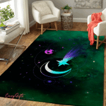 Wicca Crescent Moon With Shooting Star W31 Area Rug