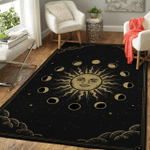 Wicca Sun and moon W027 Area Rug