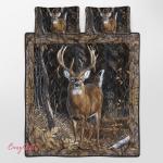 Beautiful Deer 343 Quilt Bed Set