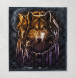Native American Wolf 347 Quilt Blanket