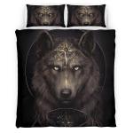Native American Wolf 348 Bedding Set