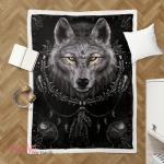Native American Wolf 349 Shepra Blanket